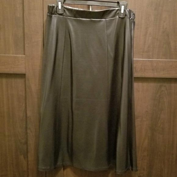 Mila & Milan Dresses & Skirts - Mila & Milan Faux Leather Skirt